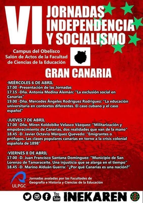 jornadas independencia y socialismo LPGC 6 abril